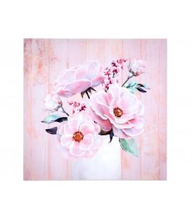 Cuadro 70x70 cm jarrón c/flores