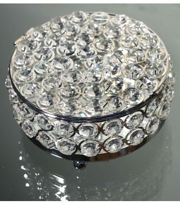 Caja redonda cristales 15x7 cm