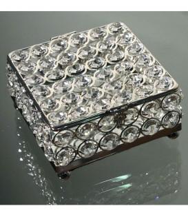 Caja cuadrada cristales 12x6 cm