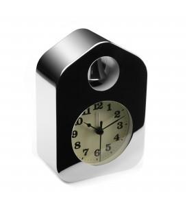 Reloj despertador cromado