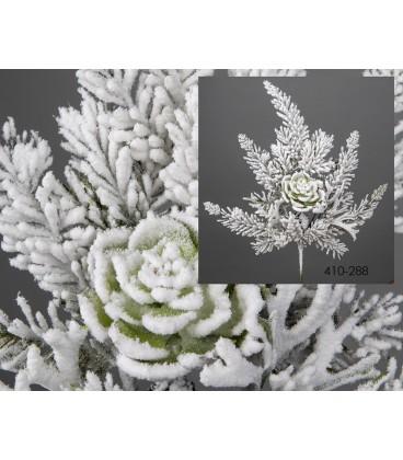 Rama pino nevado c/planta grasa 49 cm
