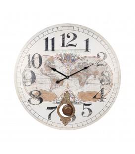 "Reloj c/péndulo ""Mundo"" 58 cm"