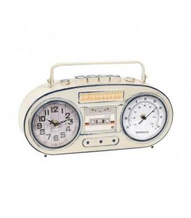 Reloj-termómetro metal