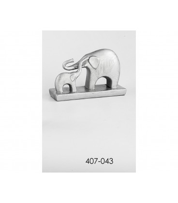 Pareja Elefantes plata