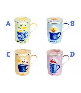 Mug Té c/filtro y tapa