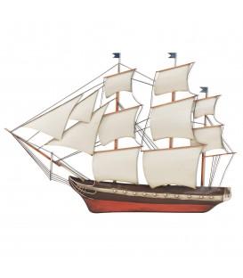 Mural barco 54x78x2 cm