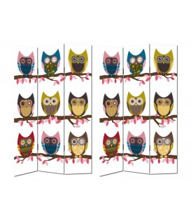 "Biombo ""Owls"" 120x2,50x180 cm"