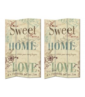 "Biombo ""Sweet Home"" 120x2,50x180 cm"