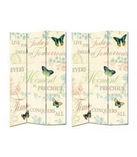 "Biombo ""Butterflies"" 120x2,50x180 cm"
