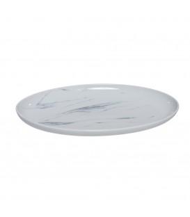 """Bandeja Porcelana """"Mármol"""" Oval"""