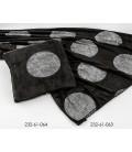 Manta negra circulos plata 130x160 cm