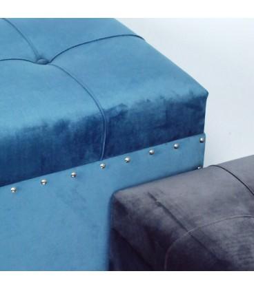 S/3 arcones terciopelo azul/gris