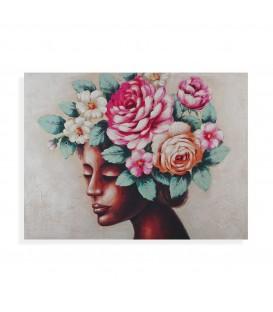 """Cuadro mujer c/flores """"Aurora"""""""