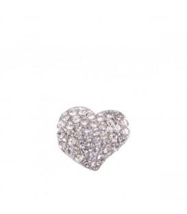 Broche corazón cristal+plata de Kylie