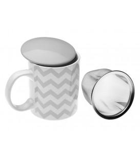 Mug Chevron c/filtro y tapa 35 cl
