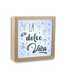 """Cuadro c/luz """"La dolce Vita"""""""