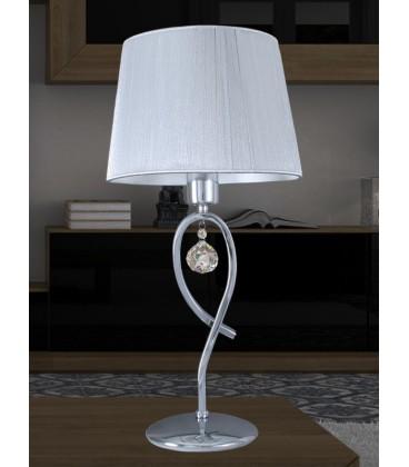 Lámpara cromo/cristal 25x52 cm