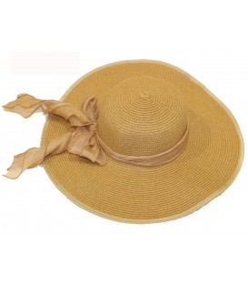 Sombrero beige c/lazo