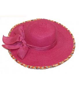 Sombrero rosa c/lazo