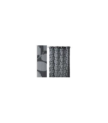 "Cortina ""Leavelines"" gris 160x260 cm"