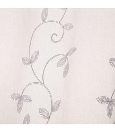 Visillo bordado blanco