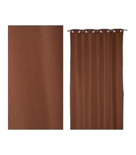 "Cortina anillas ""lcc"" chocolate 140x280 cm"