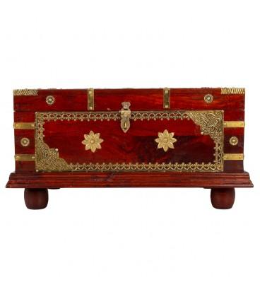 Baúl madera acabado artesanal