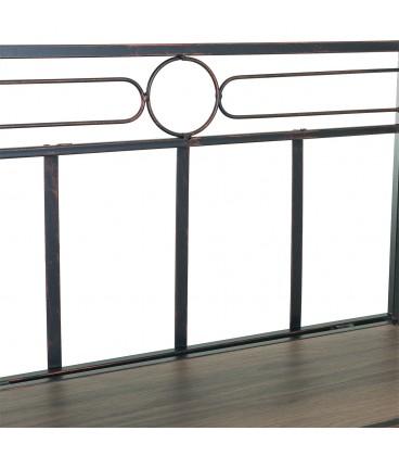 Estantería madera/metal 60x30x125h cm