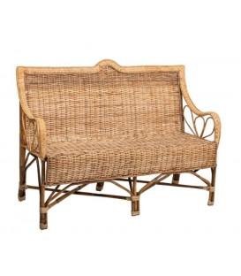 Sofá de bambú y ratán