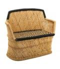Sofá de 2 plazas de bambú