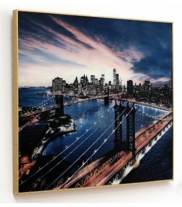 Cuadro New York cristal c/marco