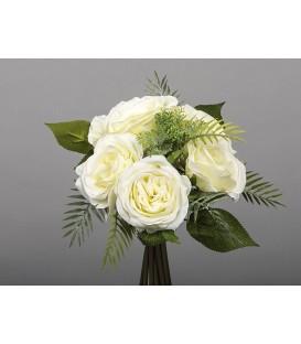 Bouquet rosas blancas 28 cm
