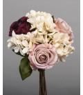 Bouquet rosas y hortensias