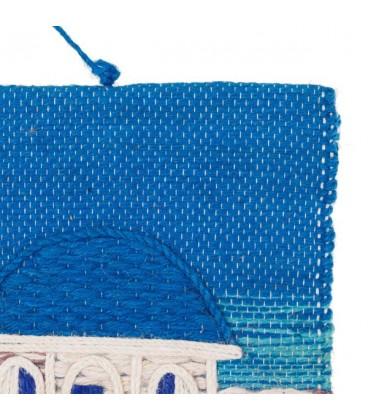 "Tapiz artesano ""Valla azul"" 40x50cm"