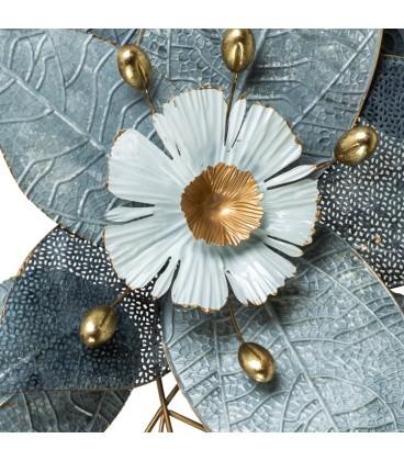 Mural metal flores