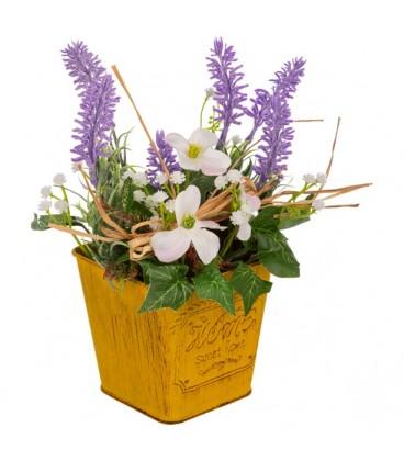 Maceta flor artificial