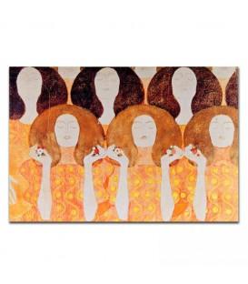 """Cuadro """"Coro"""" de Klimt en lienzo"""