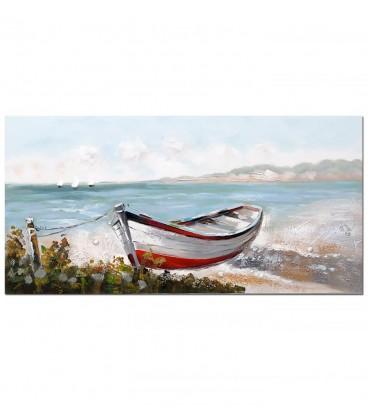 Pintura barca multicolor 70x140x3