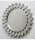 Espejo redondo plateado 112x112x3.5 cm