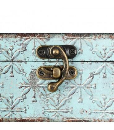 Caja llaves azul-negro 24x8x30 cm
