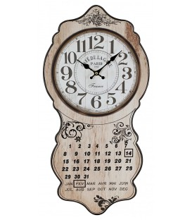 Placas pared reloj