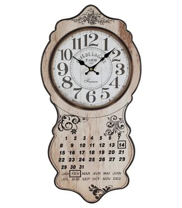 Placas pared reloj
