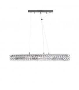 Lámpara techo cilindro plata 90 x 120 cm
