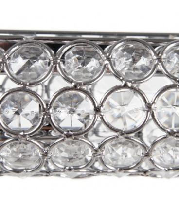 Lámpara techo cilindro plata 60 x 120 cm